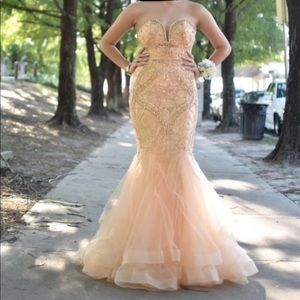 Prom Dress (Champagne Color)